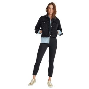 New MADEWELL True Black Fraser Slim Pants Size 28